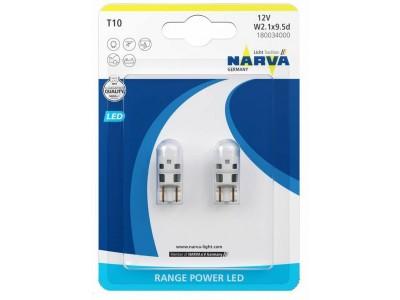 Габаритные светодиодные лампы Narva W5W T10 LED 6000k 12v 18003