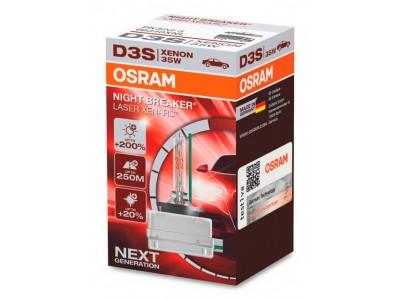 Ксеноновая лампа D3S Osram Night Breaker Laser Xenarc +200% 66340xnl