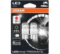 Светодиодная лампа OSRAM LEDriving - Premium SL W21/5W 12v красная 7915R-02B