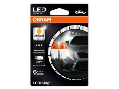 Светодиодная лампа OSRAM LEDriving - Premium W5W 12v желтая 2855YE-02B