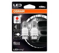 Светодиодная лампа OSRAM LEDriving - Premium P27/7W 3157 12v красная 3557R-02B