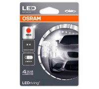Светодиодная лампа OSRAM LEDriving - Standart W5W 12v красная 2880R-02B