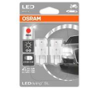 Светодиодная лампа OSRAM LEDriving SL - Standart W21/5W 12v красная 7716R-02B