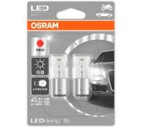 Светодиодная лампа OSRAM LEDriving - Standart SL P21/5W 12v красная 1458R-02B