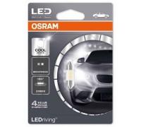 Светодиодная лампа Osram C5W софитная 31мм Standart LED  6000K 12v белая 6431CW-01B