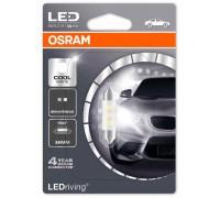 Светодиодная лампа Osram C5W софитная 36мм Standart LED  6000K 12v белая 6436CW-01B