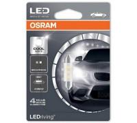 Светодиодная лампа Osram C5W софитная 41мм Standart LED  6000K 12v белая 6441CW-01B