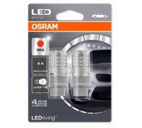 Светодиодная лампа OSRAM LEDriving - Standart P27/7W 3157 12v красная 3547R-02B