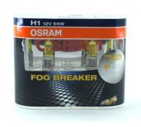 Галогенные лампы Osram Fog Breaker H1 12v 55w 62150fbrduobox