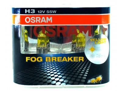 Галогенные лампы Osram Fog Breaker H3 12v 55w 62151fbrduobox