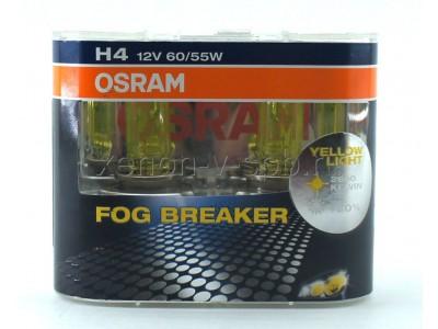 Галогенные лампы Osram Fog Breaker H4 12v 60/55w 62193fbrduobox