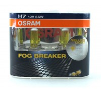 Галогенные лампы Osram Fog Breaker H7 12v 55w 62210fbrduobox