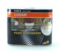 Галогенные лампы Osram Fog Breaker HB4 12v 51w 9006fbrduobox