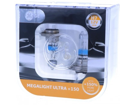 Галогенные лампы General Electric Megalight Ultra +150% H7 12v 55w 58520nxnu