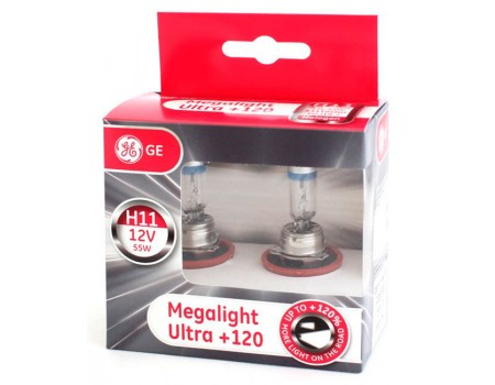 Галогенные лампы General Electric Megalight Ultra +120% H11 12v 55w 53110snu