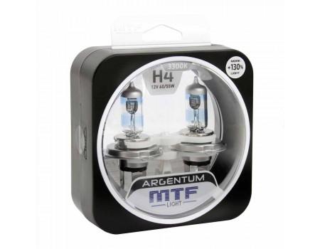 Галогенные лампы MTF light Argentum +130% H4 60/55W (комплект)