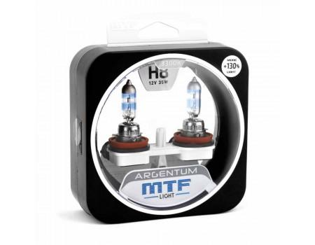 Галогенные лампы MTF light Argentum +130% H8 35W (комплект)