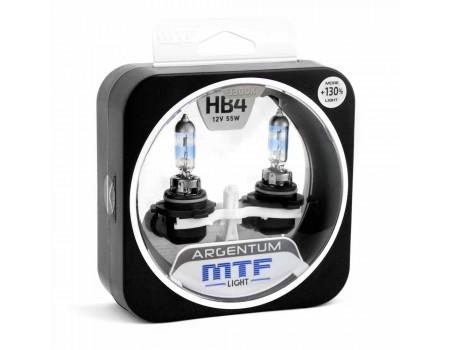 Галогенные лампы MTF light Argentum +130% HB4 55W (комплект)