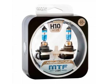 Галогенные лампы MTF light Argentum +80% H10 42W (комплект)