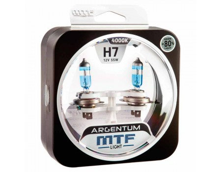 Галогенные лампы MTF light Argentum +80% H7 55W (комплект)