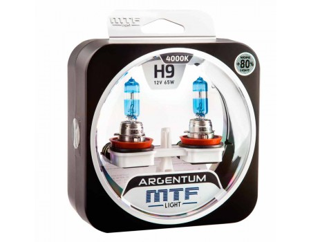 Галогенные лампы MTF light Argentum +80% H9 65W (комплект)