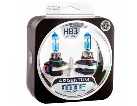 Галогенные лампы MTF light Argentum +80% HB3 65W (комплект)