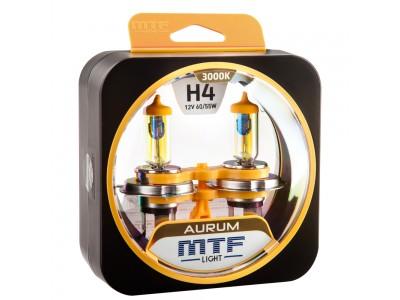 Галогенные лампы MTF light Aurum H4 (комплект)