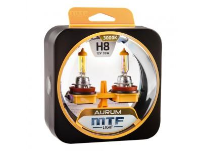 Галогенные лампы MTF light Aurum H8 (комплект)