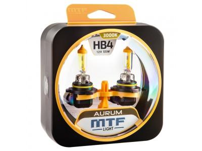 Галогенные лампы MTF light Aurum HB4 (комплект)