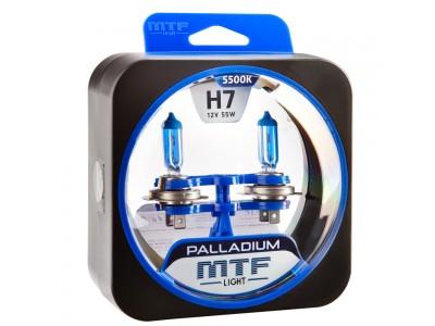 Галогенные лампы MTF light Palladium H7 (комплект)