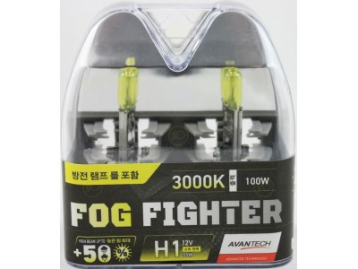 Галогенные лампы Avantech Fog Fighter +50% H1 12v 55w 3000k ab3001