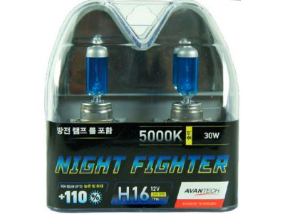 Галогенные лампы Avantech Night Fighter +110% H16 12v 19w 5000k ab5016