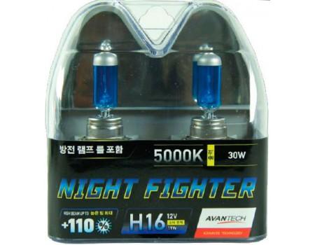 Галогенные лампы Avantech Night Fighter +110% H16 12v 19w 5000k ab5016