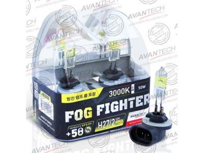 Галогенные лампы Avantech Fog Fighter +50% H27/2 (881) 12v 27w 3000k ab3028