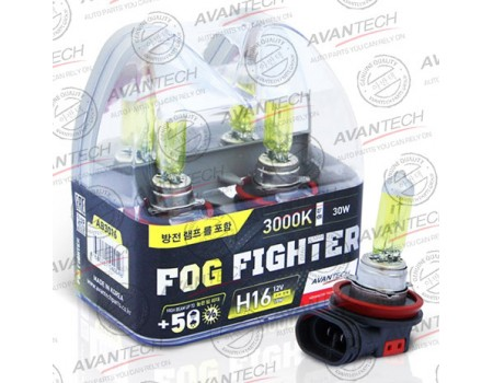 Галогенные лампы Avantech Fog Fighter +50% H16 12v 19w 3000k ab3016