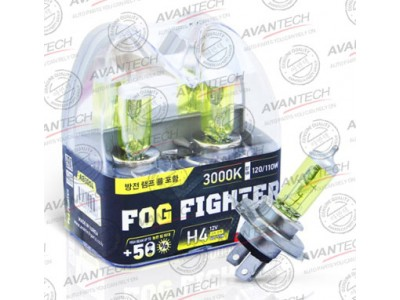 Галогенные лампы Avantech Fog Fighter +50% H4 12v 60/55w 3000k ab3004