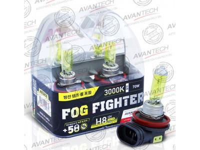 Галогенные лампы Avantech Fog Fighter +50% H8 12v 35w 3000k ab3008