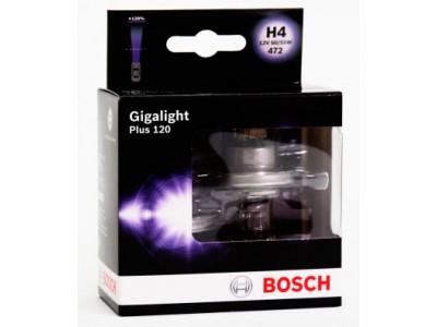 Галогенные лампы Bosch H4 Gigalight Plus 120% 12v 60/55w 1987301106