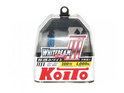 Галогенные лампы KOITO WHITEBEAM III H11 12v 55w P0750W