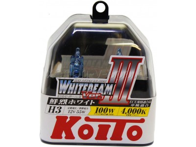 Галогенные лампы KOITO WHITEBEAM III H3 12v 55w P0752W