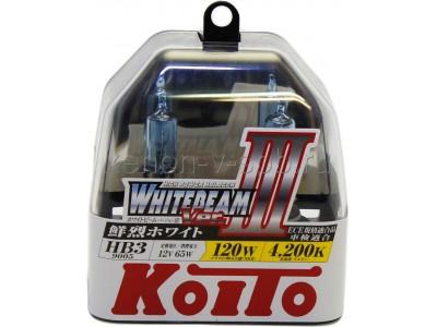 Галогенные лампы KOITO WHITEBEAM III HB3 12v 65w P0756W