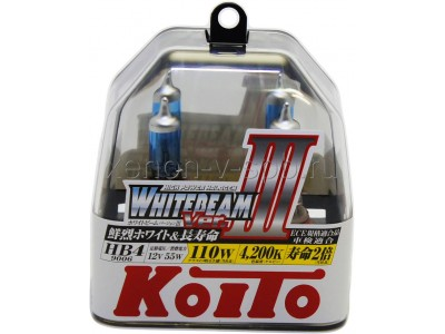 Галогенные лампы KOITO WHITEBEAM III HB4 12v 55w P0757W