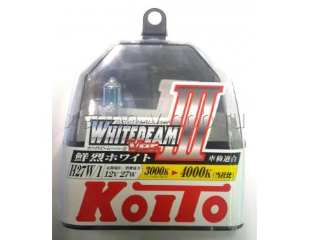 Галогенные лампы KOITO WHITEBEAM III H27/1 (880) 12v 27w P0728W