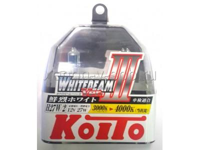 Галогенные лампы KOITO WHITEBEAM III H27/2 (881) 12v 27w P0729W