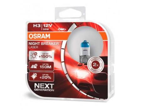 Галогенные лампы Osram Night Breaker Laser +150% Next Generation H3 12v 55w 64151nl-hcb