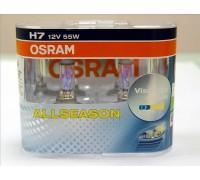 Галогенные лампы Osram Allseason H7 12v 55w 64210alsduobox