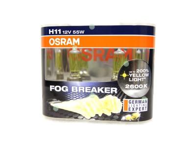 Галогенные лампы Osram Fog Breaker H11 12v 55w 64211fbrduobox