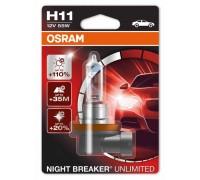 Галогенные лампы Osram Night Breaker Unlimited +110% H11 12v 55w 64211nbu01b