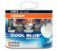 Галогенные лампы Osram Cool Blue Hyper+ HB4 12v 51w 69006cbh+duobox