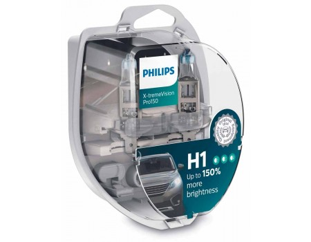 Галогенные лампы Philips Xtreme Vision Pro150 +150% H1 12v 55w 12258xvps2